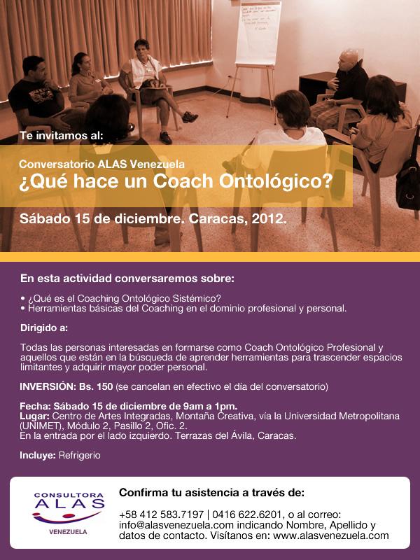 Conversatorio ALAS Venezuela: ¿Qué hace el Coach Ontológico?
