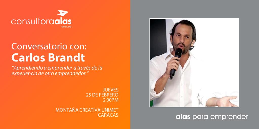 ALAS para Emprender Conversatorio con Carlos Brandt