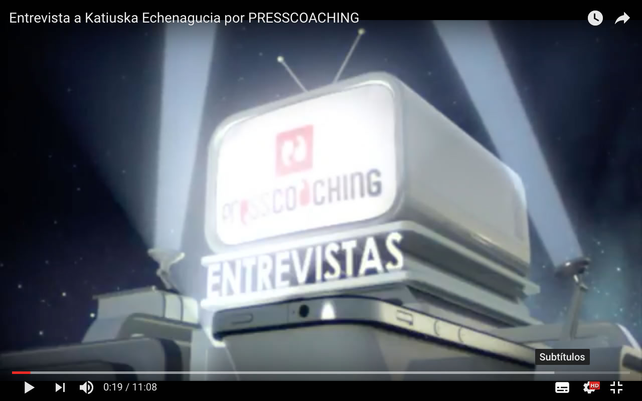 Entrevista a Katiuska Echenagucia por PRESS COACHING
